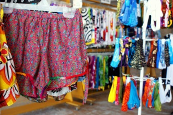 Handmade beach shorts from India. (Photo/Kendra Yost)