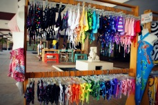 The bikini rack at The Snorkel Shop in Playa del Carmen, MX. (Photo/Kendra Yost)