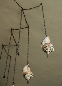 Seashell lighting and chain. (Photo/Kendra Yost)