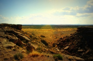 The view from Box Canyon at the Homolovi Ruins. (Photo/Kendra Yost)