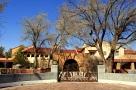 La Posada Historical Hotel from the train yard in Winslow Arizona.