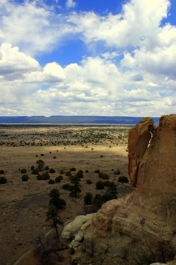 At the top of El Morro in Ramah, New Mexico