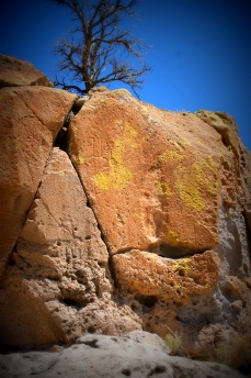 Petroglyphs at Bandelier National Monument.