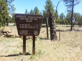 Blue Ridge Cave Trailhead in Lakeside, AZ. (Photo/Kendra Yost)