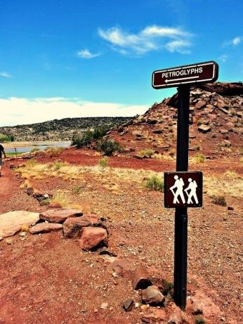Petroglyph Trail trailhead in St. John's, Arizona. (Photo/Kendra Yost)