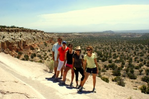 Our group at Bandelier National Park in New Mexico.