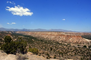 A large mesa in near Santa Fe, New Mexico.