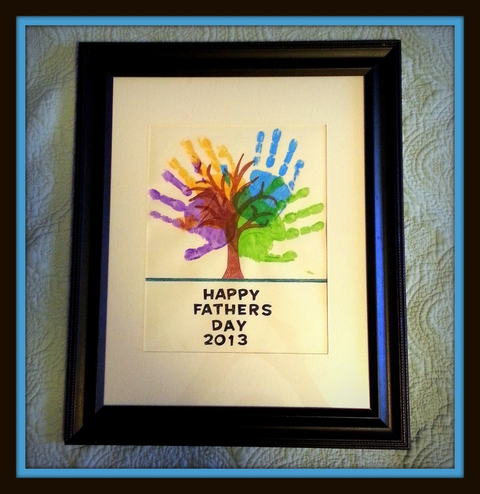 DIY Father's Day Art (Photo/Kendra Yost)