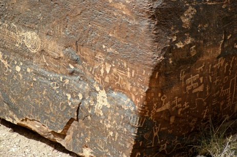Petroglphs at Newspaper Rock in the Petrified Forest National Monument in Arizona. Photo/Kendra Yost