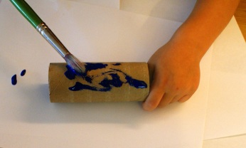 Painting the roll. Photo/Kendra yost