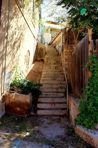 A walkway in Old Bisbee Arizona. Photo/Kendra Yost