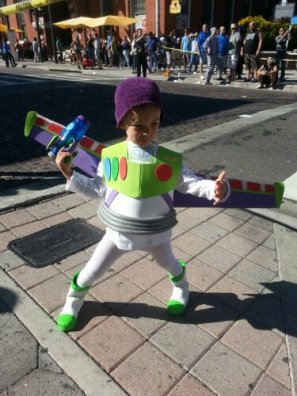 Buzz Lightyear in Ybor City, Tampa, Florida. Photo/Kendra Yost