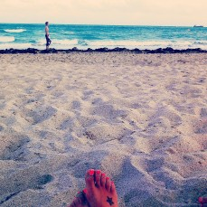 Miami Beach toes